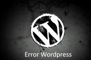 mensajes de error en WordPress