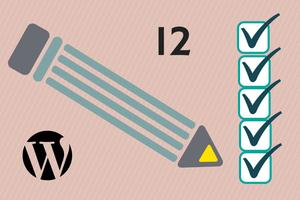 12 tareas wordpress
