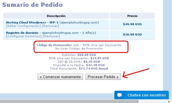 procesar pedido