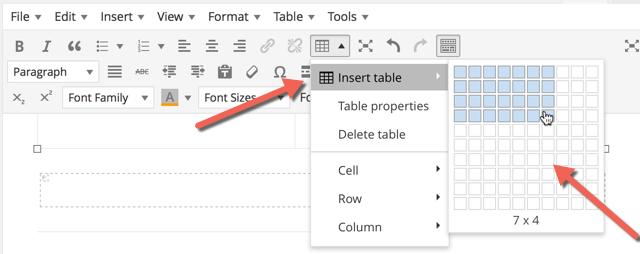Insertar tables WordPress