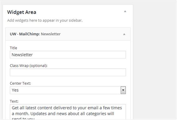 mailchimp widget