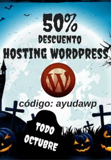 promo hosting wordpress octubre