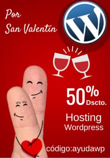 san valentin hosting wordpress