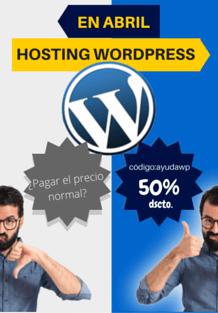 wordpress mitad precio