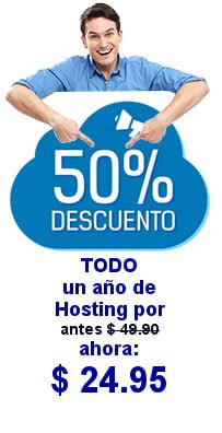 promo Hosting WordPress 50% de descuento