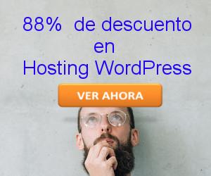 promo Hosting WordPress 88% de descuento